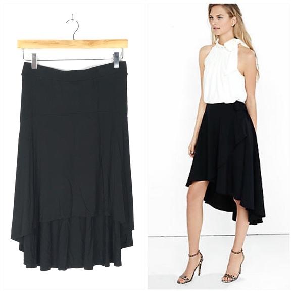 a new day Dresses & Skirts - Black Hi Low Rayon Skirt